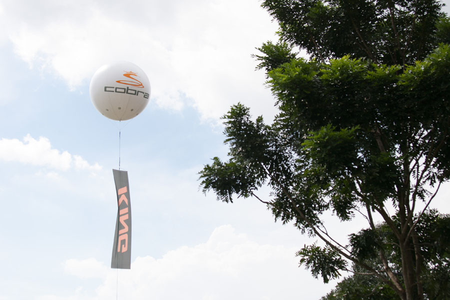 The Cobra giant balloon flying high.
